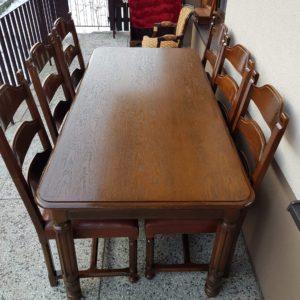 stół + 6 krzeseł skóra (10)